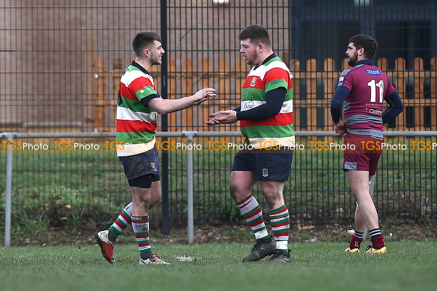 Ilford score their fourth try during Barking RFC vs Ilford Wanderers RFC, London 3 Essex Division Rugby Union at Gale Street on 9th February 2019