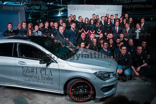 First CLA Shooting Brake model is being introduced built in the Mercedes-Benz factory in Kecskemet, (about 100 km south of Budapest), Hungary on January 20, 2015. ATTILA VOLGYI
