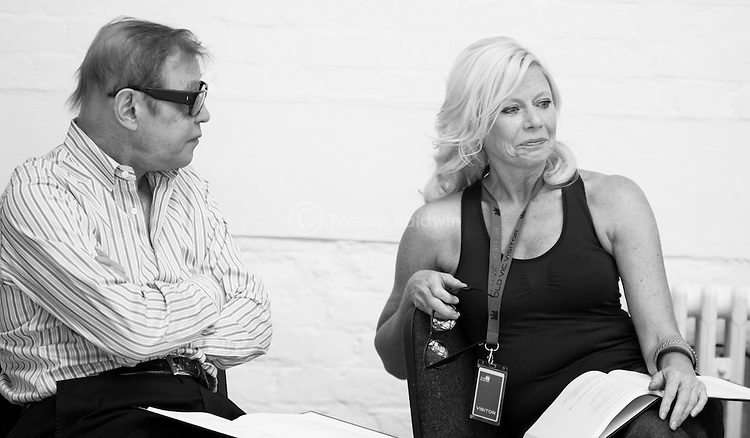 """King Lear"" rehearsed reading rehearsals. Old Vic Theatre. Director: Jonathan Miller. Michael York, Felicity Dean."
