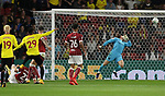 Watford's Etienne Capoue scoring his sides opening goal during the Carabao cup match at Vicarage Road Stadium, Watford. Picture date 22nd August 2017. Picture credit should read: David Klein/Sportimage