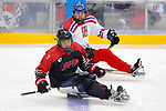 Daisuke Uehara (JPN), <br /> MARCH 13, 2018 - Para Ice Hockey : <br /> Qualification round between Czech Republic 3-0 Japan <br /> at Gangneung Hockey Centre during the PyeongChang 2018 Paralympics Winter Games in Pyeongchang, South Korea. <br /> (Photo by Yusuke Nakanishi/AFLO)