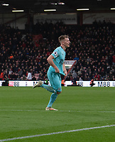 Newcastle United's Matt Ritchie celebrates scoring his side's second goal <br /> <br /> Photographer David Horton/CameraSport<br /> <br /> The Premier League - Bournemouth v Newcastle United - Saturday 16th March 2019 - Vitality Stadium - Bournemouth<br /> <br /> World Copyright © 2019 CameraSport. All rights reserved. 43 Linden Ave. Countesthorpe. Leicester. England. LE8 5PG - Tel: +44 (0) 116 277 4147 - admin@camerasport.com - www.camerasport.com