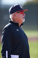 Jesus Azuaje coaches for the Giants during the Under Armour Baseball Factory Recruiting Classic at Gene Autry Park on December 30, 2017 in Mesa, Arizona. (Zachary Lucy/Four Seam Images)