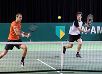 Rotterdam, Netherlands, 10 februari, 2018, Ahoy, Tennis, ABNAMROWTT, Qualifying doubles, Thiemo de Bakker (NED) (L) and Sander Arends (NED)<br /> Photo: Henk Koster/tennisimages.com