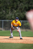 December 28, 2009:  Travis Strickler (14) of the Baseball Factory Shockers team during the Pirate City Baseball Camp & Tournament at Pirate City in Bradenton, Florida.  (Copyright Mike Janes Photography)