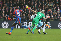 West Ham United's Michail Antonio is brought down by  Crystal Palace's Vicente Guaita to earn his side a penalty<br /> <br /> Photographer Rob Newell/CameraSport<br /> <br /> The Premier League - Saturday 9th February 2019  - Crystal Palace v West Ham United - Selhurst Park - London<br /> <br /> World Copyright © 2019 CameraSport. All rights reserved. 43 Linden Ave. Countesthorpe. Leicester. England. LE8 5PG - Tel: +44 (0) 116 277 4147 - admin@camerasport.com - www.camerasport.com