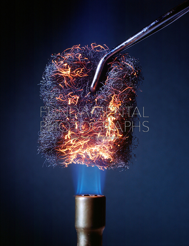 STEEL WOOL GLOWS RED WHEN HEATED IN AIR<br /> When Heated In Air, Steel Wool Does Not Burn.