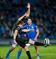 1st November 2019; RDS Arena, Dublin, Leinster, Ireland; Guinness Pro 14 Rugby, Leinster versus Dragons; Rhodri Williams (c) of Dragons kicks the ball clear from the ruck - Editorial Use