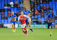 Ashley Hunter of Fleetwood Town during the Sky Bet League 1 match between Shrewsbury Town and Fleetwood Town at Greenhous Meadow, Shrewsbury, England on 21 October 2017. Photo by Leila Coker / PRiME Media Images.