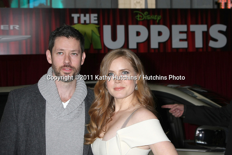 """LOS ANGELES - NOV 12:  Amy Adams arrive at the """"Muppets"""" World Premiere at El Capitan Theater on November 12, 2011 in Los Angeles, CA"""