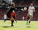 Edwin Van Der Saar foils Robbie Keane during the Michael Carrick Testimonial match at the Old Trafford Stadium, Manchester. Picture date: June 4th 2017. Picture credit should read: Simon Bellis/Sportimage