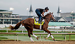 LOUISVILLE, KENTUCKY - MAY 02: Spinoff, trained by Todd Pletcher, exercises in preparation for the Kentucky Derby at Churchill Downs in Louisville, Kentucky on May 2, 2019. Scott Serio/Eclipse Sportswire/CSM
