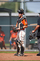 San Francisco Giants Will Albertson (10) during an Instructional League game against the Colorado Rockies on October 8, 2016 at the Giants Baseball Complex in Scottsdale, Arizona.  (Mike Janes/Four Seam Images)