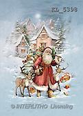 Interlitho, Patricia, CHRISTMAS SANTA, SNOWMAN, nostalgic, paintings, santa, reindeer(KL5398,#X#) Weihnachten, nostalgisch, Navidad, nostálgico, illustrations, pinturas