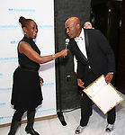 Chirlane McCray and Kenny Leon attend the SDC Foundation presents The Mr. Abbott Award honoring Kenny Leon at ESPACE on March 27, 2017 in New York City.