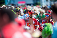 Castellon, SPAIN - SEPTEMBER 7: Cofidis bikers during LA Vuelta 2016 on September 7, 2016 in Castellon, Spain