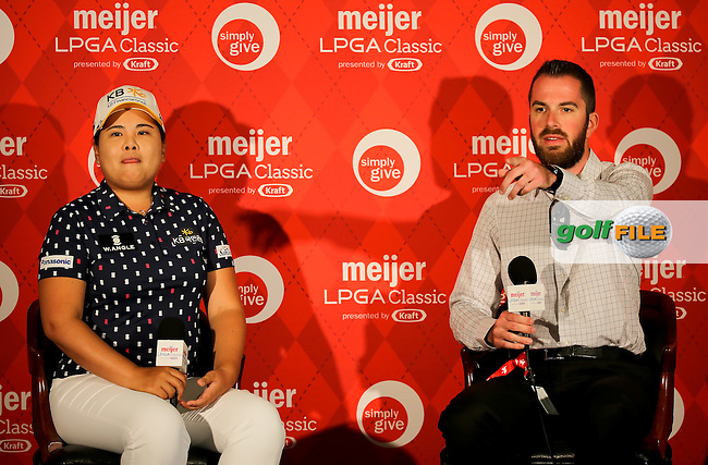 21 JUL 15  Inbee Park meets the press after the Wednesday Pro Am Round of The Meijer LPGA Classic at The Blythefield Country Club in Belmont, Michigan. (photo credit : kenneth e. dennis/kendennisphoto.com)