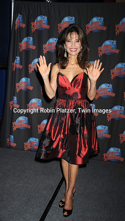 Susan Lucci at Planet Hollywood in New York City, where she celebrated her career with a handprint ceremony on December 18, 2008. ............Robin Platzer, Twin Images......