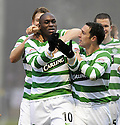 12/12/2009  Copyright  Pic : James Stewart.sct_jspa11_motherwell v celtic  . :: MARC ANTOINE FORTUNE CELEBRATES WITH TEAM MATES AFTER HE SCORES CELTIC'S WINNING THIRD :: .James Stewart Photography 19 Carronlea Drive, Falkirk. FK2 8DN      Vat Reg No. 607 6932 25.Telephone      : +44 (0)1324 570291 .Mobile              : +44 (0)7721 416997.E-mail  :  jim@jspa.co.uk.If you require further information then contact Jim Stewart on any of the numbers above.........