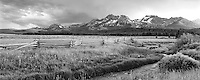 M00179M.tiff   Sawtooth Mountains with sunset and thunderstorm. Sawtooth National Recreation Area, Idaho