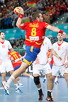 Spain and Croatia during 23rd Men's Handball World Championship preliminary round match, in the pic: Victor Tomas Gonzalez. January 19 ,2013. (ALTERPHOTOS/Caro Marin) /NortePhoto