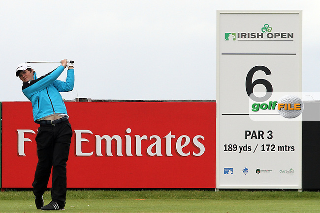 Alan Dunbar (AM) (NIR) on the 6th on Day 2 of the 2012 Irish Open at Royal Portrush Golf Club, Portrush, Co.Antrim, 29/6/12...(Photo Jenny Matthews/www.golffile.ie)