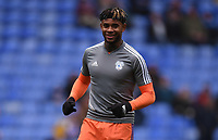 25th January 2020; Madejski Stadium, Reading, Berkshire, England; English FA Cup Football, Reading versus Cardiff City; Leandro Bacuna of Cardiff City warms up