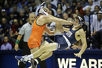 STATE COLLEGE, PA -DECEMBER 19: Michael Waters of the Penn State Nittany Lions during a match against Devin Carter of the Virginia Tech Hokies on December 19, 2014 at Recreation Hall on the campus of Penn State University in State College, Pennsylvania. Penn State won 20-15. (Photo by Hunter Martin/Getty Images) *** Local Caption *** Michael Waters;Devin Carter