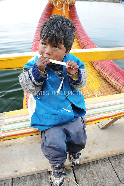 WWW.ACEPIXS.COM . . . . . .January 5, 2013...Peru.... Lake Titicaca on January 5, 2013 in Peru ....Please byline: KRISTIN CALLAHAN - ACEPIXS.COM.. . . . . . ..Ace Pictures, Inc: ..tel: (212) 243 8787 or 212 489 0521..e-mail: kristincallahan@aol.com...web: http://www.acepixs.com .