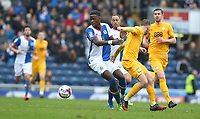 Blackburn Rovers' Lucas Joao and Preston North End's Aidan McGeady<br /> <br /> Photographer Stephen White/CameraSport<br /> <br /> The EFL Sky Bet Championship - Blackburn Rovers v Preston North End - Saturday 18th March 2017 - Ewood Park - Blackburn<br /> <br /> World Copyright &copy; 2017 CameraSport. All rights reserved. 43 Linden Ave. Countesthorpe. Leicester. England. LE8 5PG - Tel: +44 (0) 116 277 4147 - admin@camerasport.com - www.camerasport.com