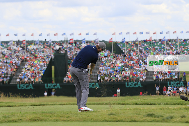 Bernd Wiesberger (AUT) tees off the par3 9th tee during Saturday's Round 3 of the 117th U.S. Open Championship 2017 held at Erin Hills, Erin, Wisconsin, USA. 17th June 2017.<br /> Picture: Eoin Clarke   Golffile<br /> <br /> <br /> All photos usage must carry mandatory copyright credit (&copy; Golffile   Eoin Clarke)