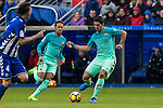 FC Barcelona's forward Luis Suarez in action  during the match of La Liga between Deportivo Alaves and Futbol Club Barcelona at Mendizorroza Stadium in Vitoria, Spain. February 11, 2017. (ALTERPHOTOS/Rodrigo Jimenez)
