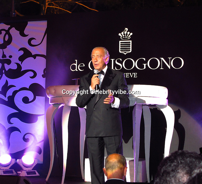 Founder and President of De Grisogono Fawaz Gruosi..De Grisogno Party..2011 Cannes Film Festival..Eden Roc Restaurant at Hotel Du Cap..Cap D'Antibes, France..Tuesday, May 17, 2011..Photo By CelebrityVibe.com..To license this image please call (212) 410 5354; or.Email: CelebrityVibe@gmail.com ;.website: www.CelebrityVibe.com