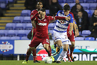 Roque Mesa of Swansea City, is challenged by Pelle Clement of Reading during the Carabao Cup Third Round match between Reading and Swansea City at Madejski Stadium, Reading, England, UK. Tuesday 19 September 2017