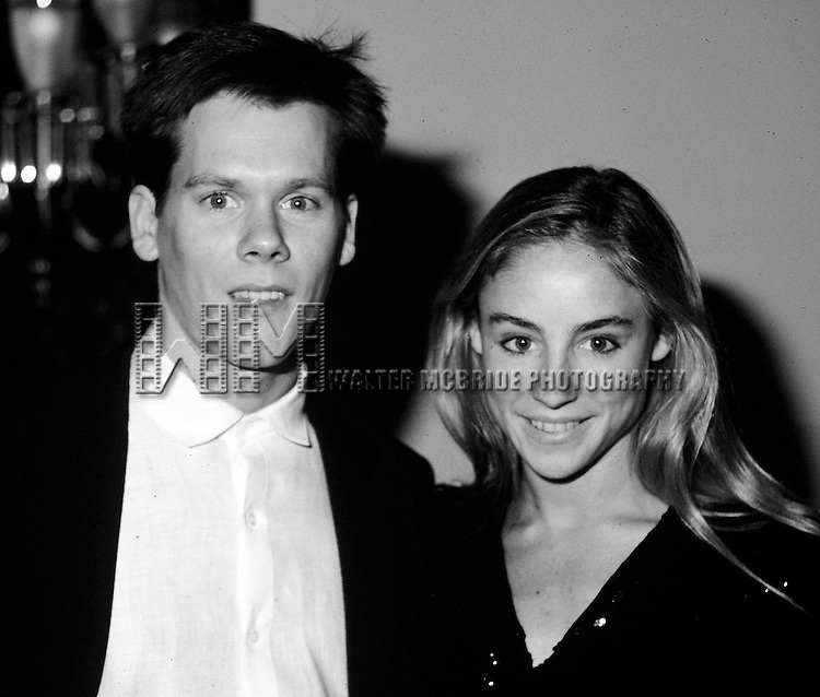 Kevin Bacon and Tracy Pollan in New York City in 1984.