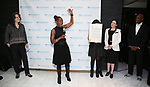 Pam Mackinnon, Chirlane McCray and Kenny Leon attend the SDC Foundation presents The Mr. Abbott Award honoring Kenny Leon at ESPACE on March 27, 2017 in New York City.