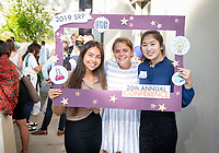 From left, Diana Flores Barnett, Olivia Addington and Sophia Yang<br /> Occidental College's Undergraduate Research Center hosts their annual Summer Undergraduate Research Conference on July 31, 2019. Student researchers presented their work as either oral or poster presentations at this final conference. The program lasts 10 weeks and involves independent research in all departments.<br /> (Photo by Marc Campos, Occidental College Photographer)
