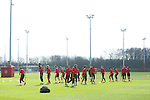A general view during the UEFA Europa League training at the AON Carrington training complex. Photo credit should read: Philip Oldham/Sportimage