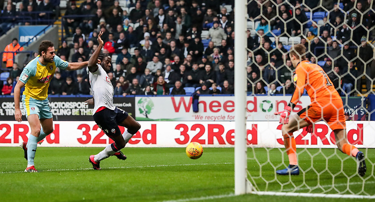 Bolton Wanderers' Clayton Donaldson breaks on goal<br /> <br /> Photographer Andrew Kearns/CameraSport<br /> <br /> The EFL Sky Bet Championship - Bolton Wanderers v Rotherham United - Wednesday 26th December 2018 - University of Bolton Stadium - Bolton<br /> <br /> World Copyright © 2018 CameraSport. All rights reserved. 43 Linden Ave. Countesthorpe. Leicester. England. LE8 5PG - Tel: +44 (0) 116 277 4147 - admin@camerasport.com - www.camerasport.com