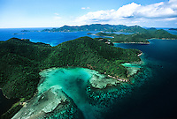 43099 Aerial view of St John.Showing Newfound Bay.U.S. Virgin Islands