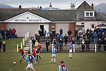 A bumper crowd watching the action at Ferguson Park, Rosewell, as Whitehill Welfare take on Gala Fairydean Rovers in a Scottish Lowland League fixture, which the home team won 3-0. The match was one of six arranged by the league and GroundhopUK over the weekend to accommodate groundhoppers, fans who attempt to visit as many football venues as possible. Around 100 fans in two coaches from England participated in the 2016 Lowland League Groundhop and they were joined by other individuals from across the UK which helped boost crowds at the six featured matches.