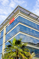 CNN regional office in Media City, one of the Dubai Free Zones.  Dubai. United Arab Emirates.