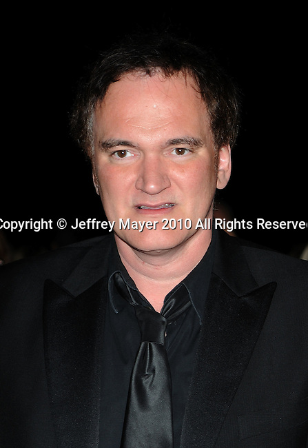 PALM SPRINGS, CA. - January 05: Quentin Tarantino arrives at the 2010 Palm Springs International Film Festival gala held at the Palm Springs Convention Center on January 5, 2010 in Palm Springs, California.