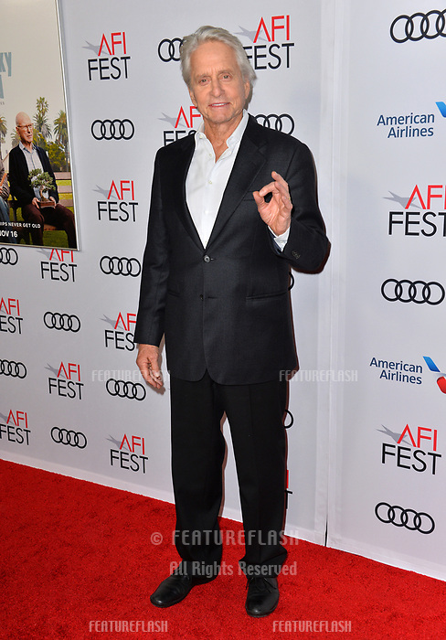"LOS ANGELES, CA. November 10, 2018: Michael Douglas & Cameron Douglas at the AFI Fest 2018 world premiere of ""The Kominsky Method"" at the TCL Chinese Theatre.<br /> Picture: Paul Smith/FeatureflashLOS ANGELES, CA. November 10, 2018: Michael Douglas at the AFI Fest 2018 world premiere of ""The Kominsky Method"" at the TCL Chinese Theatre.<br /> Picture: Paul Smith/Featureflash"