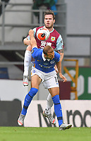 Burnley's Kevin Long battles with Brighton & Hove Albion's Glenn Murray<br /> <br /> Photographer Dave Howarth/CameraSport<br /> <br /> The Premier League - Burnley v Brighton & Hove Albion - Sunday 26th July 2020 - Turf Moor - Burnley<br /> <br /> World Copyright © 2020 CameraSport. All rights reserved. 43 Linden Ave. Countesthorpe. Leicester. England. LE8 5PG - Tel: +44 (0) 116 277 4147 - admin@camerasport.com - www.camerasport.com