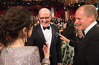 Oscar&reg; nominees Sally Hawkins, Richard Jenkins and Woody Harrelson during The 90th Oscars&reg; at the Dolby&reg; Theatre in Hollywood, CA on Sunday, March 4, 2018.<br /> *Editorial Use Only*<br /> CAP/PLF/AMPAS<br /> Supplied by Capital Pictures