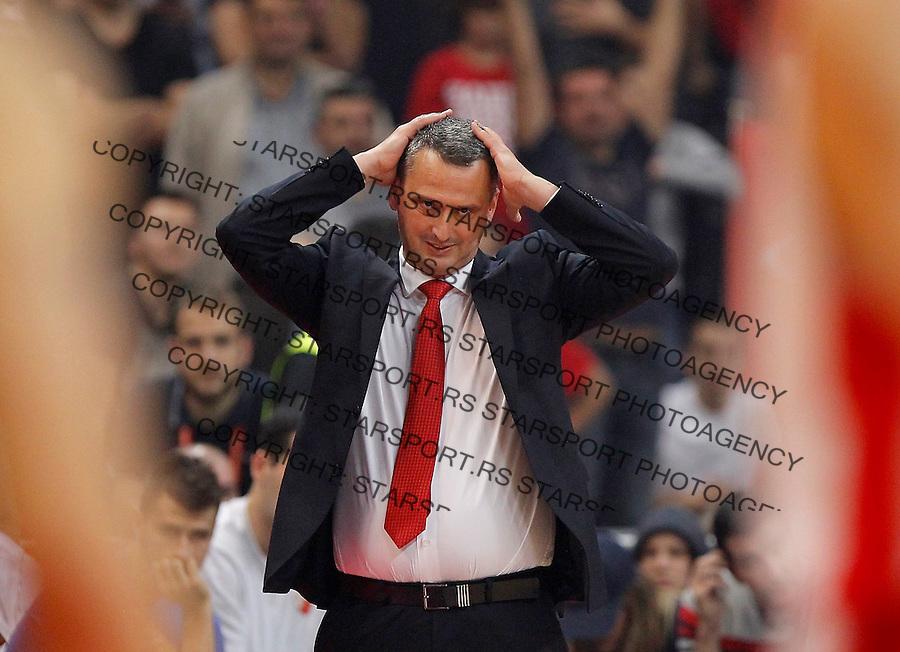 Kosarka Euroleague season 2015-2016<br /> Euroleague <br /> Crvena Zvezda v Fenebahce Istanbul<br /> head coach Dejan Radonjic reacts<br /> Beograd, 06.11.2015.<br /> foto: Srdjan Stevanovic/Starsportphoto &copy;