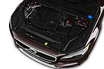 Car stock 2017 Volvo V90 Corss Country Pro 5 Door Wagon engine high angle detail view