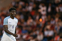Kortney Hause (Wolverhampton Wanderers) of England during the International EURO U21 QUALIFYING - GROUP 9 match between England U21 and Norway U21 at the Weston Homes Community Stadium, Colchester, England on 6 September 2016. Photo by Andy Rowland / PRiME Media Images.