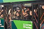 Istanbul, Turkey, morning commute, bus passengers, public transportation,